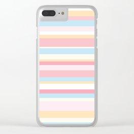 Whale Beach Stripe Clear iPhone Case