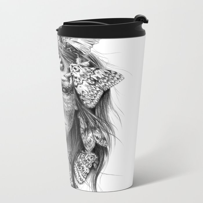 Butterfly caught Metal Travel Mug