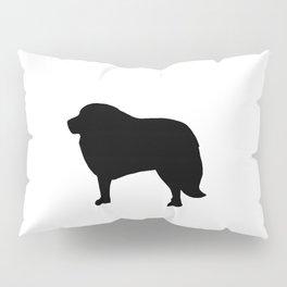 Big Black Dog Pillow Sham