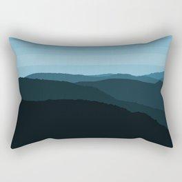 Blue Mountainscape Rectangular Pillow