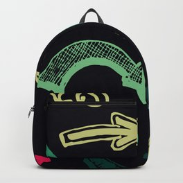 crazy arrows black Backpack