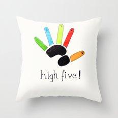 High Five! Throw Pillow