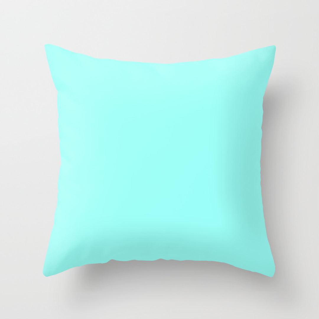 Blue-green Throw Pillows | Society15