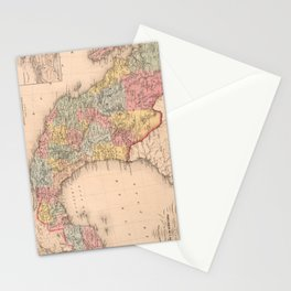 Vintage Map of Mexico (1859) Stationery Cards