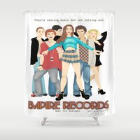 records Shower Curtains featuring Empire Records  by Maritza Lugo