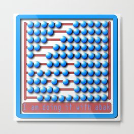 Abacus calculator Metal Print