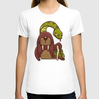 anaconda T-shirts featuring The Walrus and the Anaconda by Artistic Dyslexia