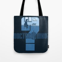 dr who Tote Bags featuring Dr Who? by Anarchtee's