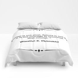 Winston Churchill Quote Comforters