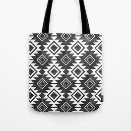 Tribal Pattern in Black & White Tote Bag