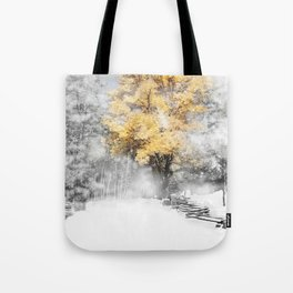Wind Gust on a Fall Day after the Snow Tote Bag