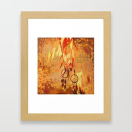 Feathered Catchers Framed Art Print