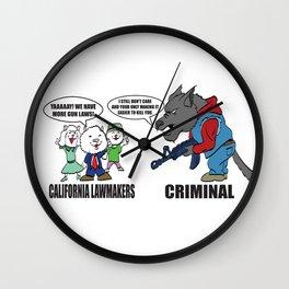 Wolf vs Sheep Wall Clock