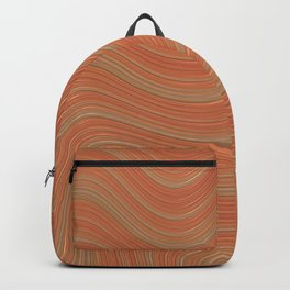 PEACHES gradient pattern of stripes in shades of peach Backpack