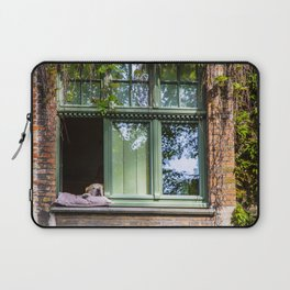 A dog at the window (Bruges' Most Famous Citizen) Laptop Sleeve