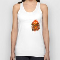pocket Tank Tops featuring Pocket Calcifer by Natalie