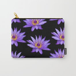 Lotus On Black Carry-All Pouch