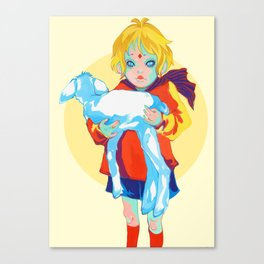 Little Prince and his sheep Canvas Print