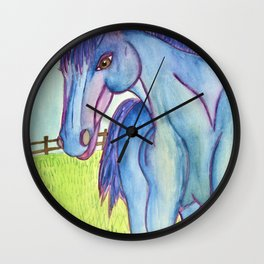 Horse In The Field Wall Clock