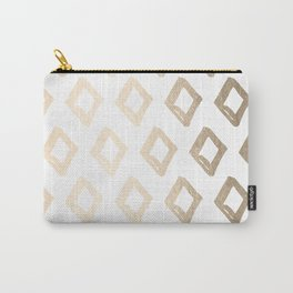 Gold Diamond Design Carry-All Pouch