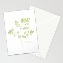 cilantro watercolor Stationery Cards
