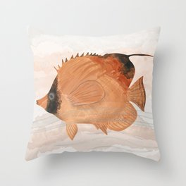 Threadfin Butterfly-fish - exotic aquatic beauty Throw Pillow