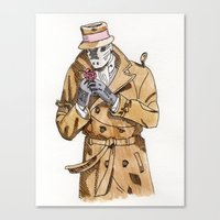 rorschach Canvas Prints featuring Rorschach by Of Newts and Nerds