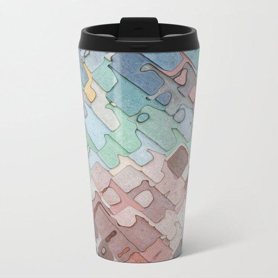 Colorful Layers Pattern Metal Travel Mug