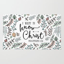 """I Want to Know Christ"" Bible Verse - Color Rug"