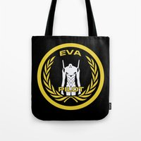 evangelion Tote Bags featuring Evangelion Pilot Logo by Artist Meli