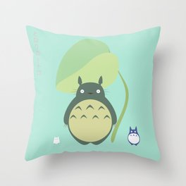 Totor0 and friends Throw Pillow