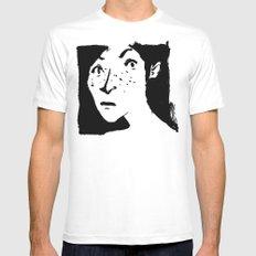Women portrait Mens Fitted Tee MEDIUM White