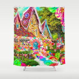 The Gingerbread House Shower Curtain