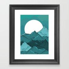 The Turquoise Mounts Framed Art Print