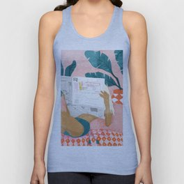 Morning News Unisex Tank Top