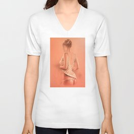 Young Girl in Lingerie Unisex V-Neck