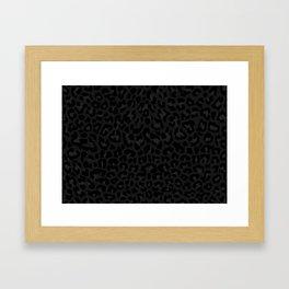 Dark abstract leopard print Framed Art Print