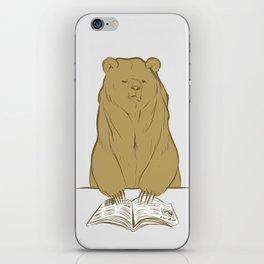 Grumpy Halstead Bear iPhone Skin