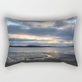 Perfect Sunset over Half Moon Cove Rectangular Pillow