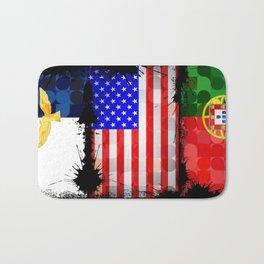 Azorean, American, Portuguese art flags Bath Mat