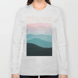 Smoky Mountain National Park Sunset Layers III - Nature Photography Long Sleeve T-shirt