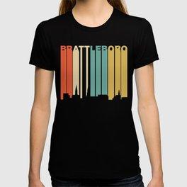 Retro 1970's Style Brattleboro Vermont Skyline T-shirt