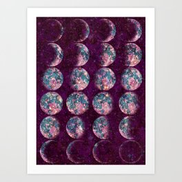 Celestial Moons Art Print