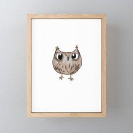 Ground Owl Framed Mini Art Print