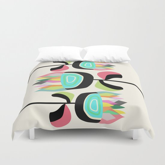 Joyful Plants Duvet Cover