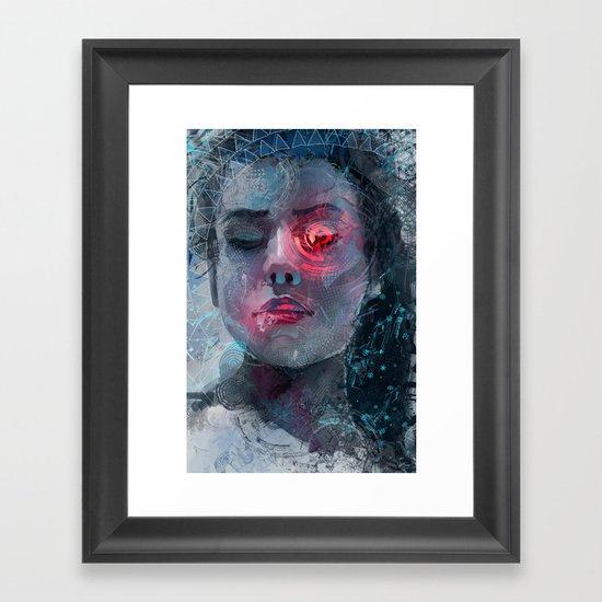 portrait in the dark Framed Art Print