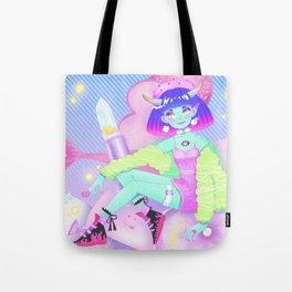 Kawaii Make-up Demon Tote Bag