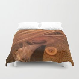FARRAH MAiSEY (shelter pup) Duvet Cover