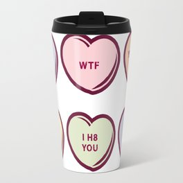 Pastel No Conversation Hearts Travel Mug