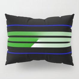 Team Colors 5...Green, blue Pillow Sham